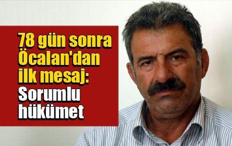 78 gün sonra Öcalan'dan ilk mesajlar