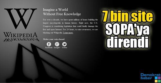 7 bin site SOPA'ya direndi