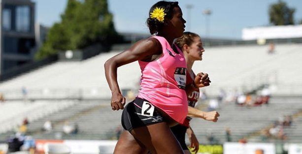 8,5 aylık hamile atlet 800 metre koştu