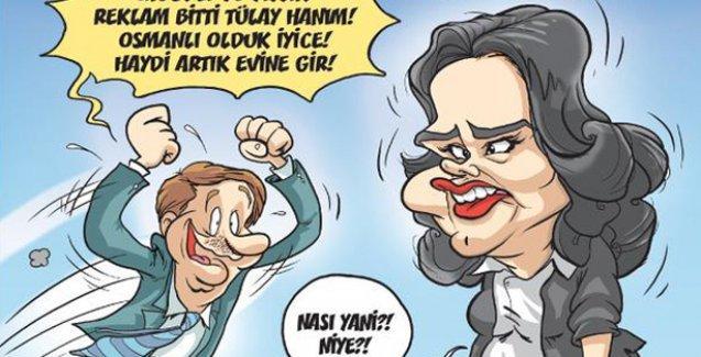 '90 yıllık reklam arası' Gırgır'da: 'Reklam bitti Tülay hanım! Haydi artık evine gir!'