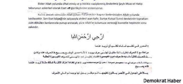 Adana'da Alevi evlerine 'başınızı keseceğiz' bildirisi