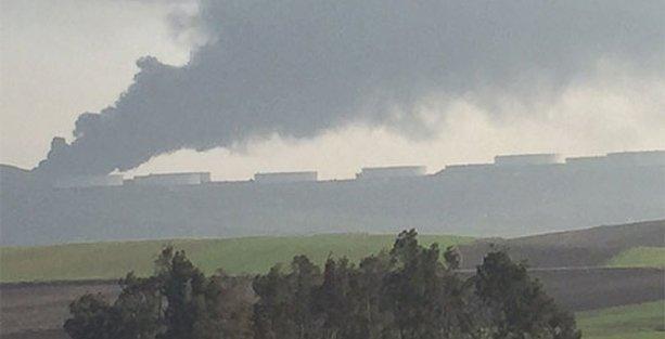 Adana'da petrol tesisi yandı