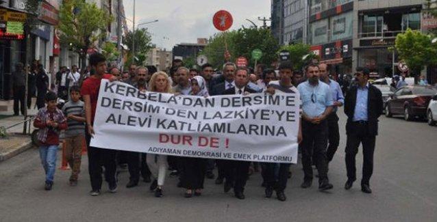 Adıyaman'da Alevi katliamı protesto edildi