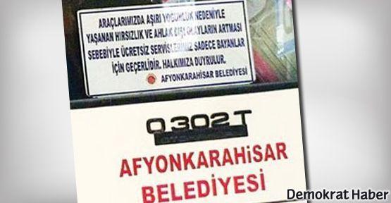 Afyon'da şimdi de 'kadına özel' otobüs