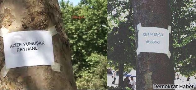 Roboski ve Reyhanlı'da katledilenlerin ismi ağaçlarda