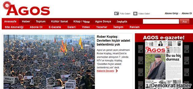 Agos gazetesi web sitesi hacklendi