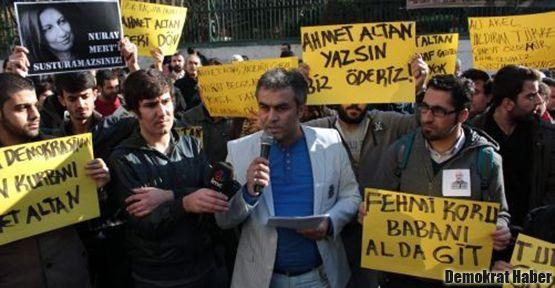 Ahmet Altan için eylem yaptılar