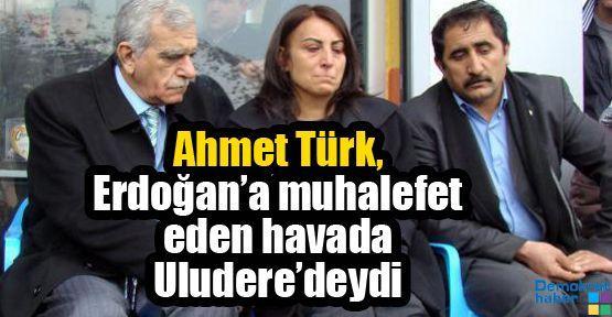 Ahmet Türk, Erdoğan'a muhalefet eden havada Uludere'deydi