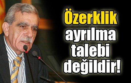 Ahmet Türk: Özerklik ayrılma talebi değildir!