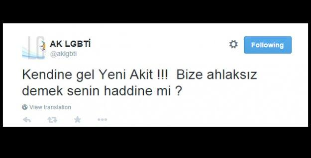 AK LGBTİ'den homofobik yayın yapan Akit'e: Haddini bil!