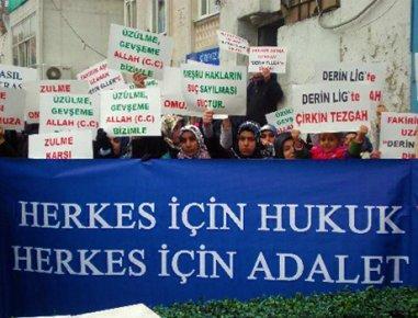 Ak Parti önünde Hizbullah protestosu