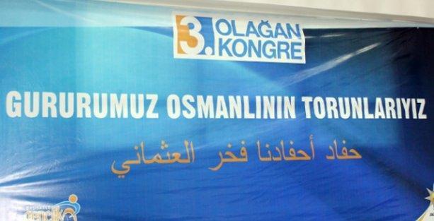 AK Partililerin, Osmanlıca diye astığı pankart Arapça çıktı