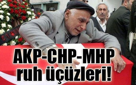 AKP-CHP-MHP ruh üçüzleri!