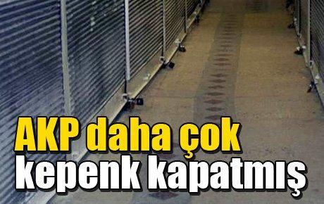 AKP daha çok kepenk kapatmış