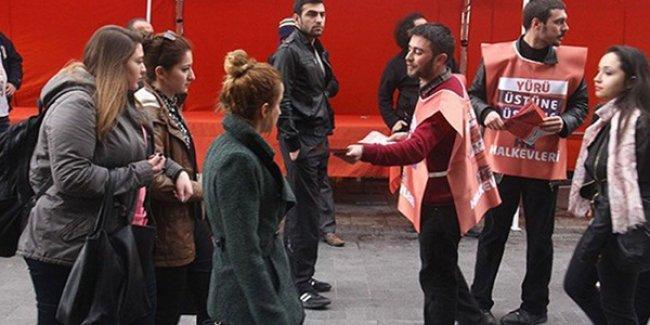 AKP karşıtı bildiri dağıtan Halkevleri üyeleri gözaltına alındı