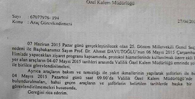 AKP mitingi için seferber olan Ağrı Valiliği'den 'tüm resmi araçlar tahsis edilsin' talimatı