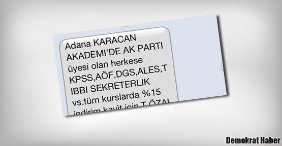 AKP üyelerine dershaneden %15 indirim