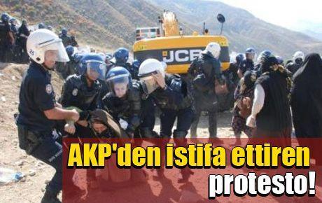 AKP'den istifa ettiren protesto!