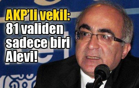 AKP'li vekil: 81 validen  sadece biri  Alevi!