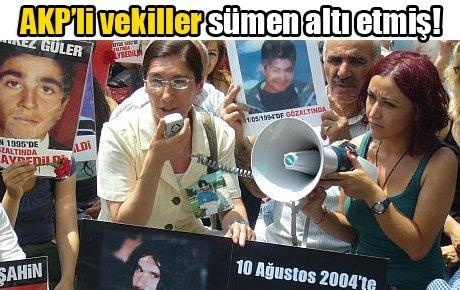 AKP'li vekiller sümen altı etmiş!