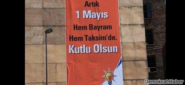 4 yıl önce AKP'den 1 Mayıs afişi