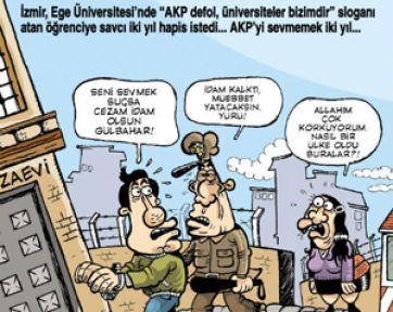 'AKP'yi sevmemenin cezası 2 yıl'