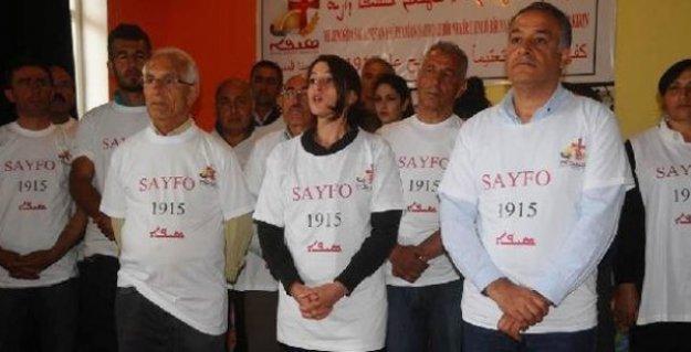 Aktivistlerden Süryanilerin Seyfo için başlattığı açlık eylemine destek