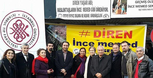 Alevi kurum temsilcileri Yaşar Kemal'i ziyaret etti