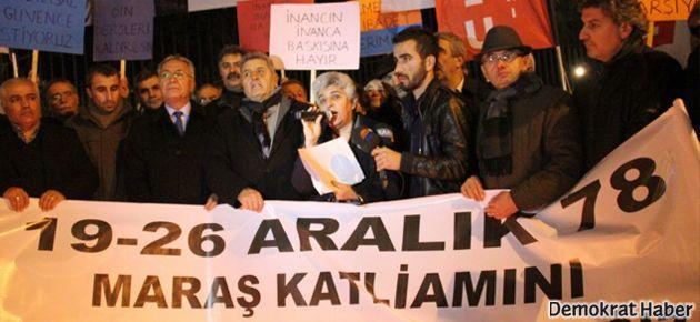 Alevi örgütleri Maraş Katliamı'nı protesto etti