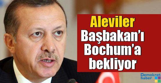 Aleviler Başbakan'ı Bochum'a bekliyor
