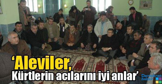 'Aleviler, Kürtlerin acılarını iyi anlar'
