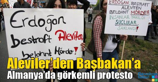 Aleviler'den Başbakan'a Almanya'da görkemli protesto