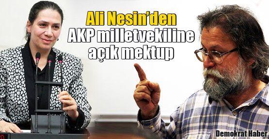 Ali Nesin'den AKP milletvekiline açık mektup