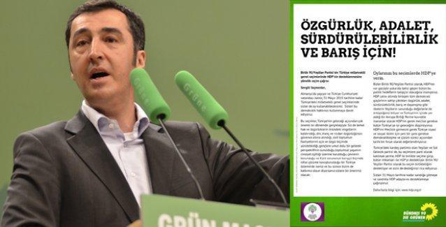 Alman Yeşiller Partisi'nden HDP'ye destek ve çağrı: Oylarınızı HDP'ye verin