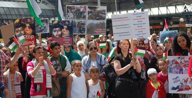 Almanya'da Filistin ve Kobane mitingleri