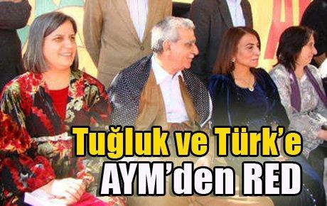 AYM'den Türk ve Tuğluk'a ret