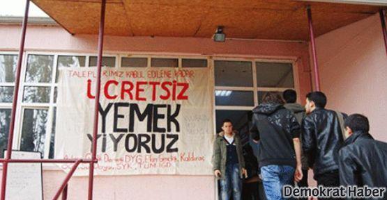 Ankara Üniversitesi öğrencileri taşeronu yendi