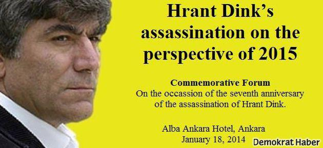 Ankara'da '2015 perspektifinde' Hrant Dink anması