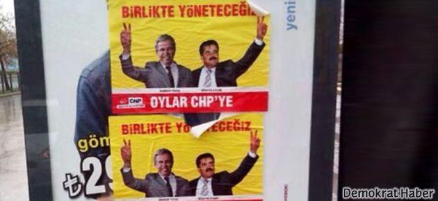 Ankara'da korsan afiş asan 2 kişi yakalandı
