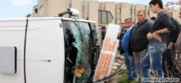 Ankara'da otobüs devrildi: 16 yaralı