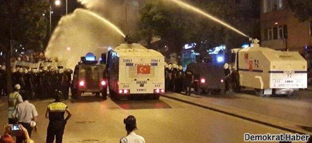 Ankara'da TOMA'lı müdahale