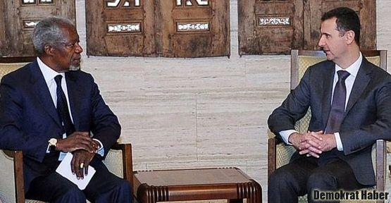 Annan ve Esad'ın görüşmesi 'yapıcı' geçti