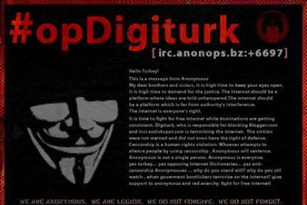 Anonymous bu kez BTK'yı vurdu