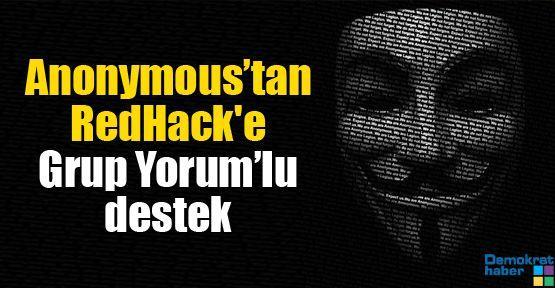 Anonymous'tan RedHack'e Grup Yorum'lu destek