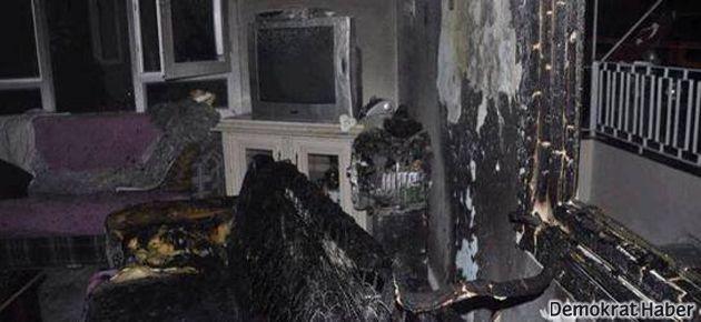 Antakya'da polisin yaktığı evin fotoğrafları