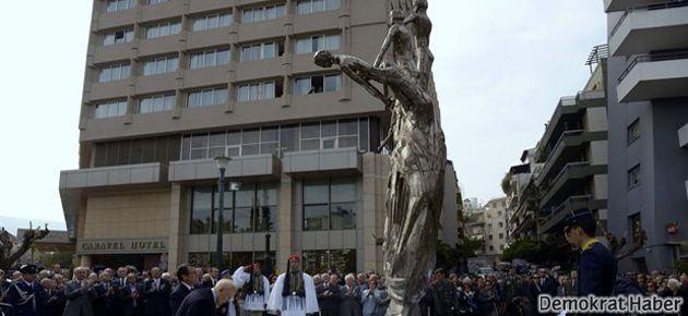 Atina'ya EOKA heykeli dikildi