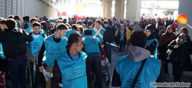 Avrasya Maratonu'nda 'Soçi' protestosu