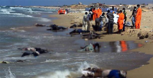 Tekneleri alabora olan göçmenlerin cansız bedenleri kıyıya vurdu!