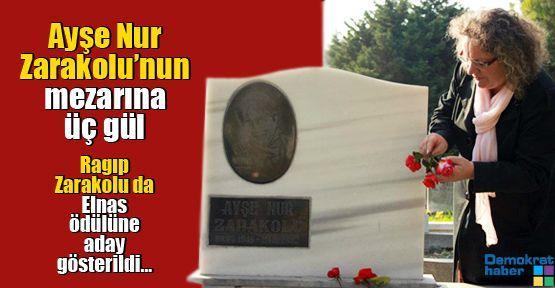 Ayşe Nur Zarakolu'nun mezarına üç gül