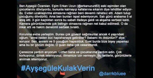 Ayşegül Özarslan'ın yardım çağrısı: 'Korkuyoruz, ölmemize izin vermeyin!'
